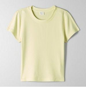 Aritzia Wilfred Go-To T-Shirt Yellow
